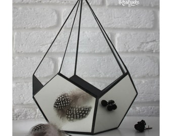 Geometric Terrarium / Crystal / Stained Glass Terrarium / Handmade Glass Planter / Stained glass vase