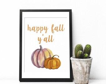 Hello Fall Print, Fall Print, Fall Decor, Fall Wall Art, Fall Printable