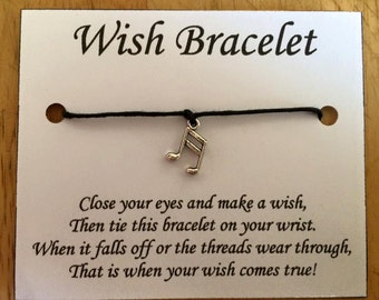 Musical Note Wish Bracelets