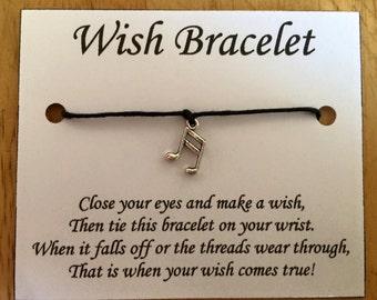 Musical Note Wish Bracelets
