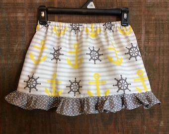 Girls nautical skirt
