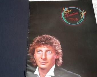 Barry Manilow 'Paradise Tour' vintage music program, Barry Manilows' World Tour, 1980s, Collectible Vintage Ephemera