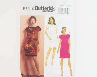 Uncut Butterick B5210 Womens Dress Paper Sewing Pattern Size  14, 16, 18, 20, 22