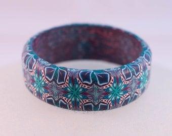 Polymer Clay Kaleidoscope Cane Bangle