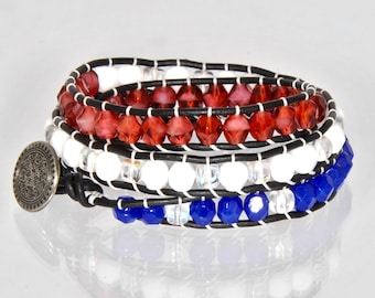 4th of July Bracelet, Fourth of July Jewelry, American Flag Bracelet, Patriotic Bracelet, American Bracelet