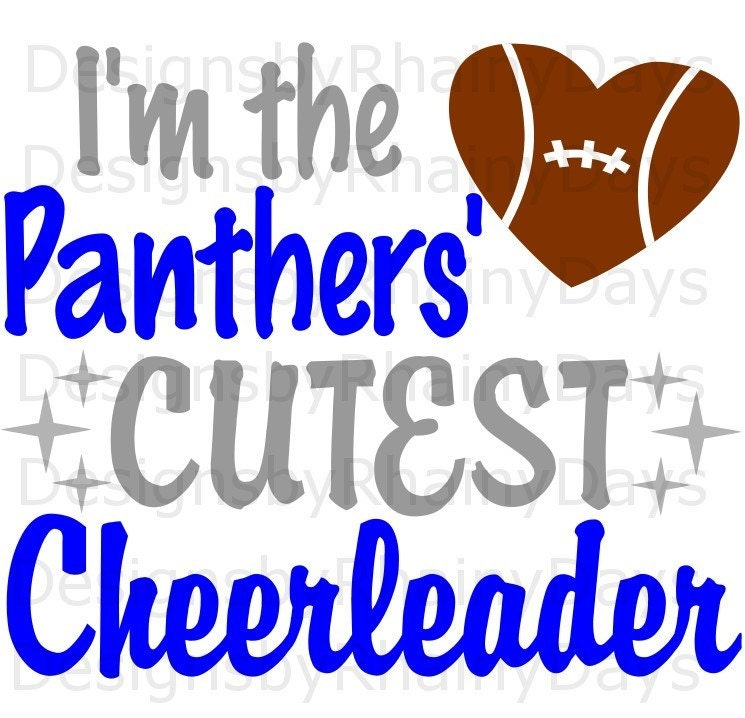 Buy 3 get 1 free! I'm the Panthers' cutest cheerleader SVG, cutting file, Football