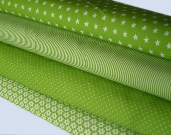 Green fabric package 4 substances 50 x 145 cm