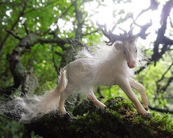 White kirin stallion