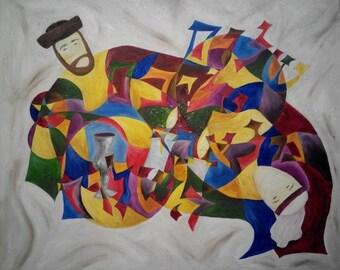 Shalom Aleichem ~ original painting ~ oil on canvas ~ 90*110 cm