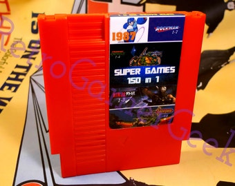 High quality 150 in 1 NES Multi-Game Cart  MegaMan 1-6 Kirby's Adventure & More