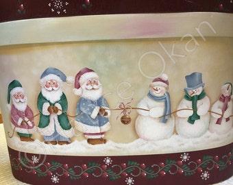 Downloadable e-packet pattern - Santas and Snowmen Tug of War