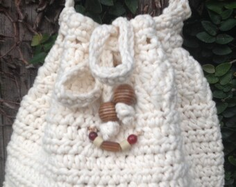 Drawstring bag crochet