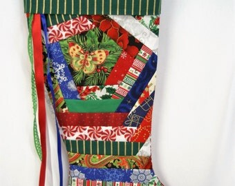 Handmade Patchwork Christmas Stocking (item RB166