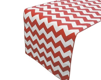 Zen Creative Designs Premium Cotton Table Top Runner Zig-Zag Chevron Red