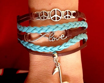 Peace, Love and Music Bracelet