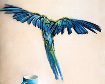 card - Feather blue - Katka Adams