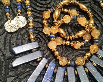 Lapis Necklace Set