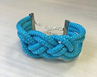 Bracelet turquoise way macrame