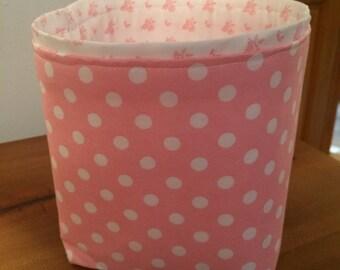 Pink Polka Dot Baskets