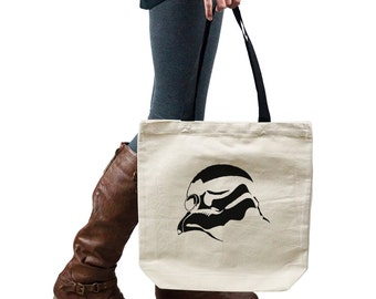 Stormtrooper Helmet Star Wars Inspired Silhouette Tote Handbag Shoulder Bag Purse SP-00127