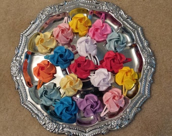 Origami rose hair clips