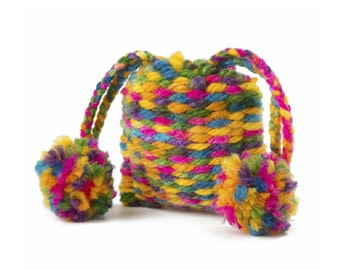 Crochet Drawstring Purse.