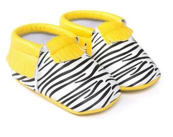 Yellow Zebra Mocassins