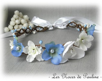 Wreath wedding blue and white Orchid