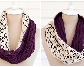 Snow Drop Reversible Cowl Scarf