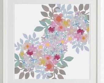 Pastel Flower II print