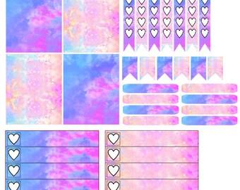 Pretty Galaxy Inspired Planner Stickers