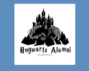 Hogwarts Castle - Alumni - Hogwarts Alumni - Hogwarts Decal - Harry Potter - Castle - School of Magic - Vinyl Car Decal - Bumper Sticker