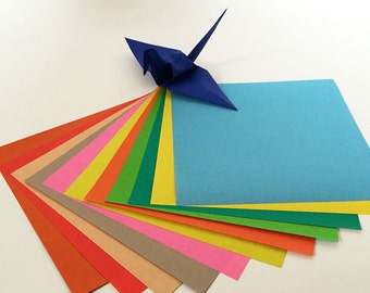 Origami Paper Sheets - Double-sided Color Assortment Folding Paper - 60 sheets