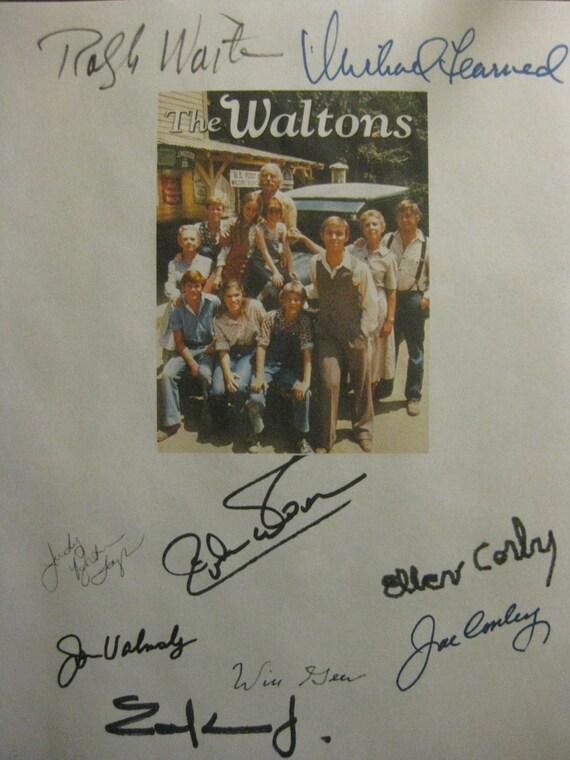 The Waltons Signed TV Script Screenplay X9 Autograph Richard Thomas Ralph Waite Michael Learned Earl Hamner Jr Jon Walmsley Will Geer Corby