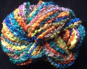 HAND-DYED ASTRAKHAN Yarn - 100% Wool - Boucle Yarn