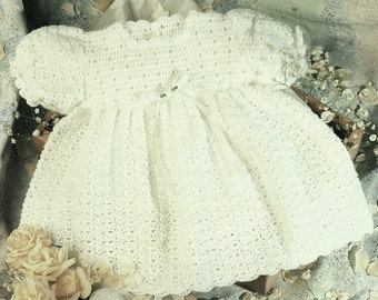 Baby Party Dress, Crochet Pattern.  PDF Instant Download.