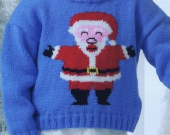 Christmas Sweater, Knitting Pattern. PDF Instant Download.