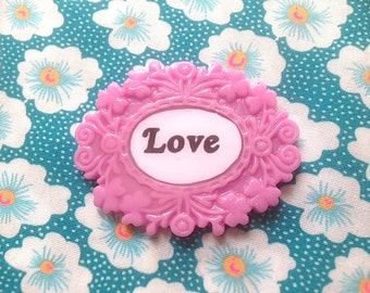 Resin brooch Love (156)