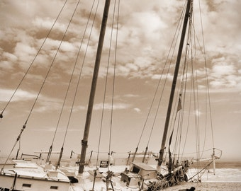 Beached Schooner