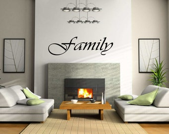 Family Wall Sign. Family Wall Vinyl. Family Wall Decor. Family Wall Decal.