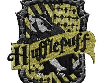 Embroidery-Embroidery-Hufflepuff-Gryffindor crest Emblem