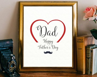 Father's day print Happy father's day Printable cards fathers day Dad printable Gift for dad Fathers day card print Fathers day gift Digital