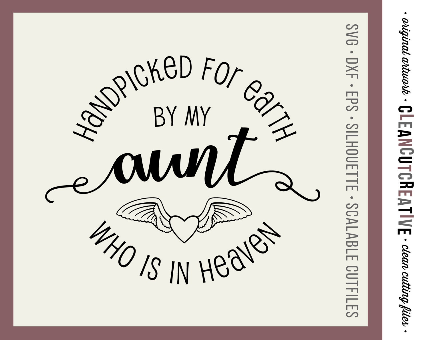 Svg Handpicked For Earth By My Aunt Svg Dxf Eps Png