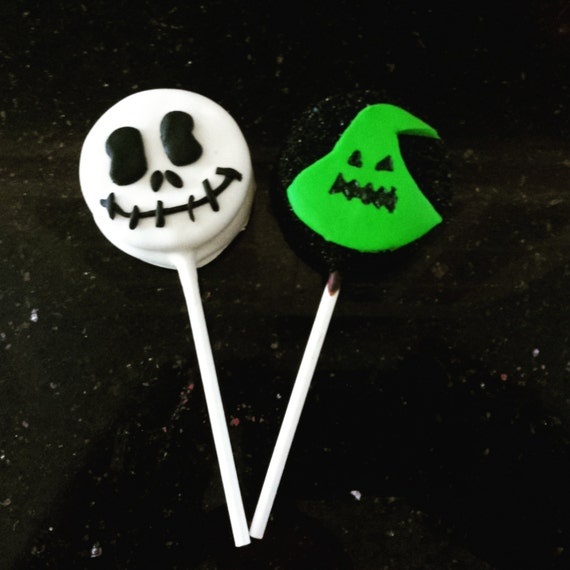12 Nightmare Before Christmas Oreo Cookie Pops Tim Burton