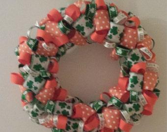 Luck of the Irish Ribbon Wreath