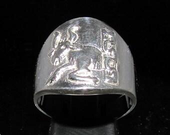 Sterling silver Zodiac ring Taurus star sign April / May