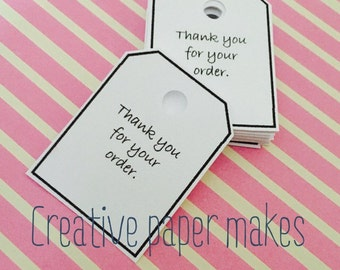 Thank you for your order tags, business tags, packaging tags, labels, thank you tags, thank you, tags,