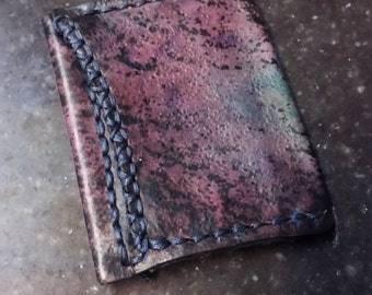 Hand made Hand Dyed Leather Wallet