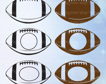 Football svg, football cutting files, svg dxf eps jpeg, football monogram frames for cameo or cricut, clipart vector download