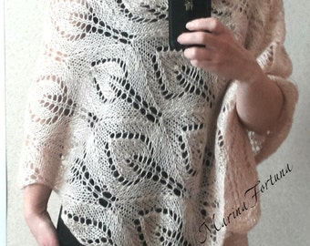 Mohair openwork knitted shawls